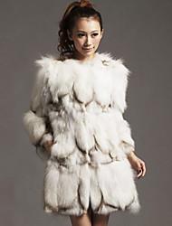 Nizza manica lunga pelliccia di volpe colletto Casual / Partito Coat