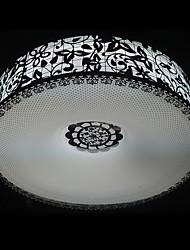 40W Classic rotonda montaggio a filo della luce con testa scavata Ombra in acciaio inox a disegno floreale (T6 Light Tube)