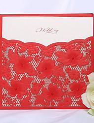 Convites de casamento Cartões de convite Embrulhado e de Bolso 50 Peça/Conjunto