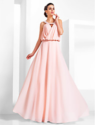 TS Couture Prom Formal Evening Military Ball Dress - Vintage Inspired Elegant A-line Princess Scoop Floor-length Chiffon withBeading