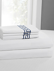 "Simple&Opulence® Sheet Set, 400 TC 100% Cotton Solid Embroidery Up to 15"" Deep"