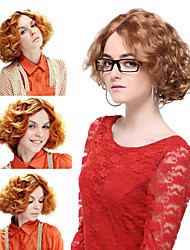 Capless High Quality Synthetic Blonde Short Curly Hair Wigs