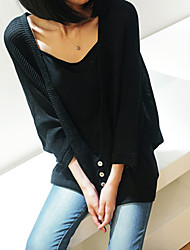 Women's Coats & Jackets , Cotton Blend Casual