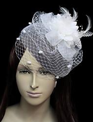 Belle flanelle avec la plume / les Fascinators mariée en tulle de la femme