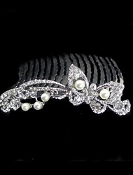 Women's Rhinestone / Alloy Headpiece-Wedding Hair Combs Clear