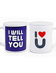 Magic Color Changing I Love You Pattern Ceramic Cup Mug