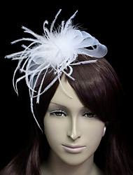 Women's Tulle Flannelette Headpiece-Wedding Special Occasion Fascinators
