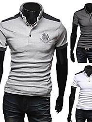 Männer Kontrast Farbe Thin Ständer Polo-Shirt