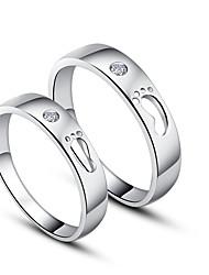 Magnifique 925 Sterling Silver Cubic Zirconia anneaux de couple