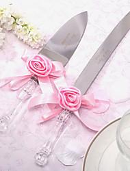 Servieren Sets Hochzeitstorte Messer personalisierten Satinrose Kuchenmesser und Server-Set