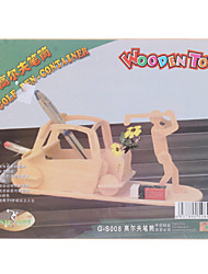 Golf Pen-container DIY Wooden 3D Puzzle Jigsaw (Model:G-S008)