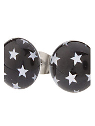 Stud Earrings Stainless Steel Resin Star Jewelry Daily