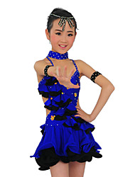 Performance Dancewear Lovely Spandex Latin Dance Dress for Children More Colors