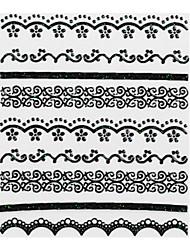 4pcs Black Lace Nail Stickers NO.1 mariage