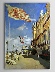 Famous Oil Painting Hotel des Roches Noires, Trouville by Claude Monet