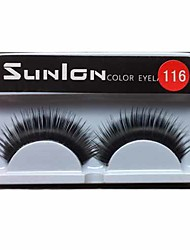 1 Pair Black Machine Made False Eyelashes SL116