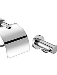 Acabado en cromo Conjuntos de baño accesorios (Incluye perchas, portarrollos de papel higiénico - Latón)