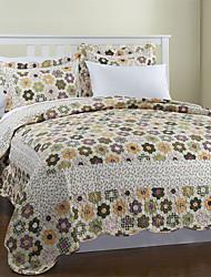 3-х частей благодати цветочные хлопка королева одеяло набор