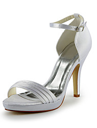 Pretty Satin Stiletto Heel Sandals With Buckle Wedding Shoes (More Colors)