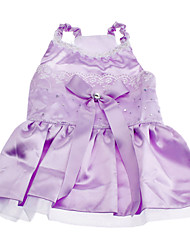 Dog Dress Purple Dog Clothes Spring/Fall Sequins Wedding