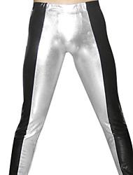 Black and Silver Shiny Metallic Pants