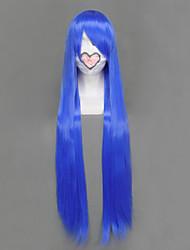 Perucas de Cosplay Estrela da sorte Izumi Konata Azul Longas Anime Perucas de Cosplay 100 CM Fibra Resistente ao Calor Feminino