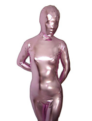 Light Pink Shiny Metallic Unisex Zentai