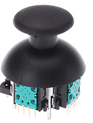 Replacement 3D Vibrating Rocker Joystick Cap Shell Mushroom Caps for PS3 Wireless Controller (Green Chip)