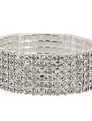 Forte six couches bracelet de diamant des femmes