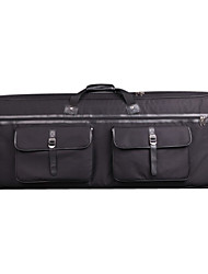 Ricevuti - (126025) Professione a 3 tasche 61-Key Keyboard Bag con cinghia invisibile (110 * 40 * 16,5 cm)