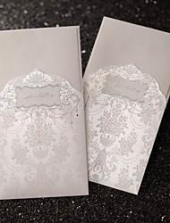 Sample Regal Luxury Folded Wedding Invitation In Ivory (One Set)