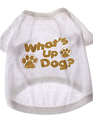 """Pure Cotton """"What's Up Dog"""" Pattern T-Shirt for Dogs (M)"""