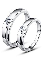 925 Sterling Silber Paare Ringe