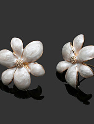 Vintage Cute Fashion Large Flower Alloy Stud Earrings
