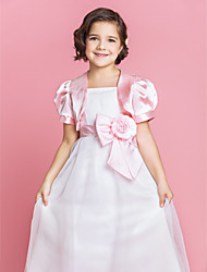 Gorgeous Satin Flower Girl Special Occasion Evening Jacket/Wrap (More Colors) Bolero Shrug
