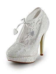 Spring / Fall Heels Lace Dress Stiletto Heel Ivory / White