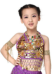 Dancewear Lovely Chiffon with Coins Belly Dance Top For Children More Colors