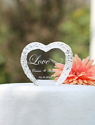 Cake Toppers Personalized Crystal Heart  Cake Topper