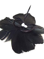 Women's Feather/Rhinestone Headpiece - Special Occasion Fascinators