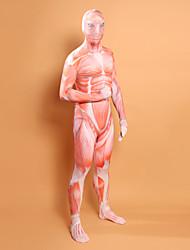 Muscle Man Lycra Zentai Geïnspireerd door aanval op Titan
