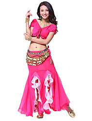 Dancewear Chiffon with 256 Coins Belly Dance Outfit For Ladies