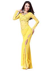 Ropa de encaje Belly Dance traje para señoras más colores