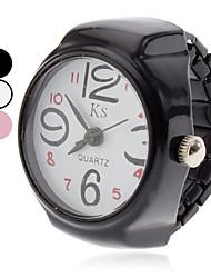 Unisex de cuarzo analógico reloj del anillo de la aleación (colores surtidos)
