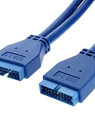 USB 3.0 20P M / M Data Kabel voor printer, gezamenlijk gebruik van gegevens (0.5 m)