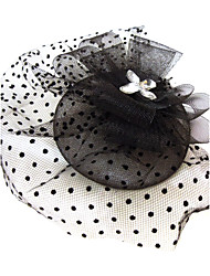 Women's Rhinestone / Net Headpiece-Special Occasion Fascinators