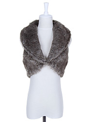 Fur Vest With Shawl In Faux Fur Casual/Party Vest