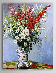 Famous Oil Painting Bouquet of Gladiolas, Lilies and Daisies by Claude Monet