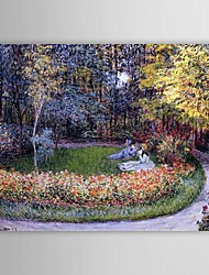 Famous Oil Painting In the Garden by Claude Monet