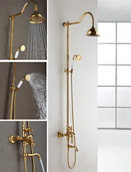 Shower Faucet Contemporary Rain Shower / Handshower Included Brass Ti-PVD