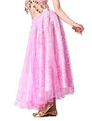 Dancewear Tulle and Satin Belly Dance Skirt More Colors